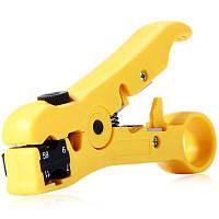 WLXY 505 Многофункциональный зачиститель / резак для коаксиального кабеля RG6 / RG59 / RG7 / RG11 Жёлтый и чёрный