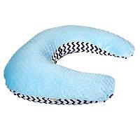 Подушка для кормления из плюшевой ткани twins minky blue Twins