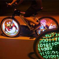 YQ8003 26 дюймов DIY программируемая светодиодная на колесе велосипеда Чёрный