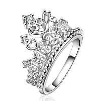 Классический Корона блеск горный хрусталь женской кольцо Размер компании 7
