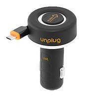 Автомобильное зарядное устройство (АЗУ) - Unplug рулетка + USB с micro USB кабелем [CCU1000MIC]