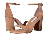 Туфли на каблуке (Оригинал) Steve Madden Exclusive - Declair Block Heeled Sandal Camel Nubuck, фото 1