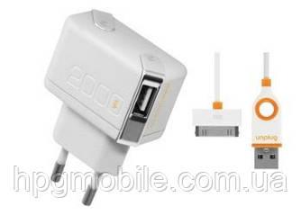 Сетевое зарядное устройство (СЗУ) - Unplug 2 USB с Dock кабелем (2 А) [ТC2000IPH]