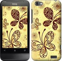"""Чехол на HTC One V t320e Красивые бабочки """"4170c-227-328"""""""