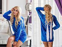 Домашнее женское платье из махры с ушками 14096SD