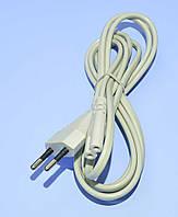 Шнур сетевой 2x0,75мм² ''8'' CCA серый 1.8м  5-0302