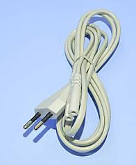 """Шнур мережний 2x0,75мм2 """"8"""" сірий CCA 1.8 м 5-0302"""