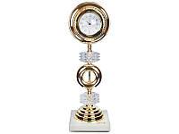 Часы настольные 50 см. из латуни и стекла Franco&C