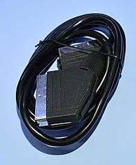 Шнур шт. Скарт - шт. Скарт d=6mm 5-0112 1.2 м