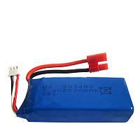 Аккумулятор для квадрокоптера 7.4V 2500 mah 18x34x85 мм