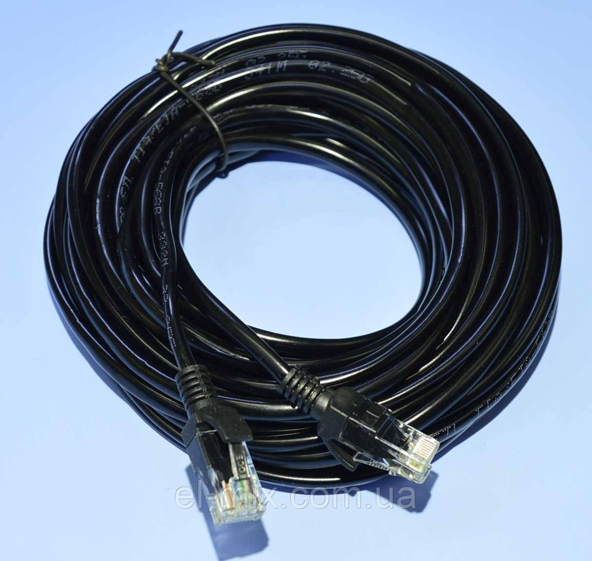 Шнур UTP-5e patchcord CCA шт.RJ45 — шт.RJ45, черный  20м  5-0817
