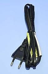 Шнур сетевой 2x0,75мм²  ''8'', медь, черный 1.8м  5-0304
