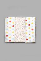 Комплект байковых пеленок для девочки 3 шт. ( фланелевые пеленки )