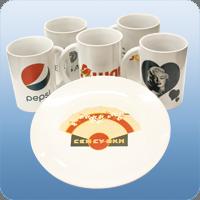 Фотопечать на керамических чашках и тарелках
