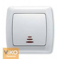 VIKO СARMEN Выключатель одно клавишный белый с подсветкой
