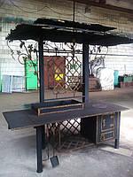Кованый мангал с печкой под крышей, фото 1