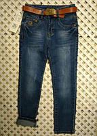 Детские голубые джинсы для мальчика с поясом Motop 2-11лет