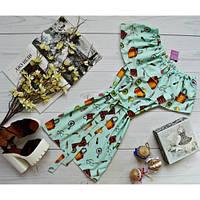 Платье c двумя воланами с поясом принт: женские аксессуары