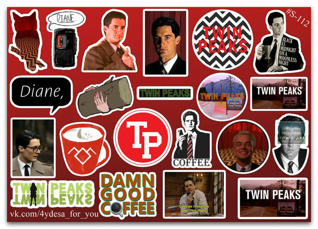 Stickers Pack Twin Peaks, Твин Пикс #112