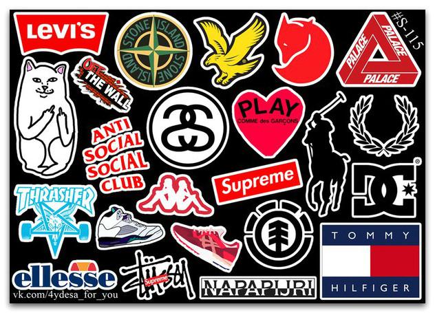 Stickers Pack Логотипы #115