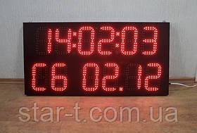 Табло многофункциональное информативное (часы, день недели, температура, дата)