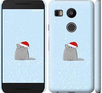 """Чехол на LG Nexus 5X H791 Рождественский кот """"502c-150-328"""""""
