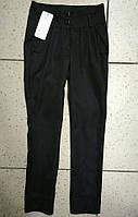 Детские черные лосины-брюки для девочки 140-158