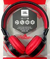 Наушники MP3 беспроводные bluetooth MS-771C черно-красные