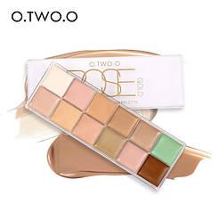 """12 цветов краска боди-арт для лица маслом палитра для макияжа на вечеринку """"O.TWO.O"""" тональный make up 30грамм"""