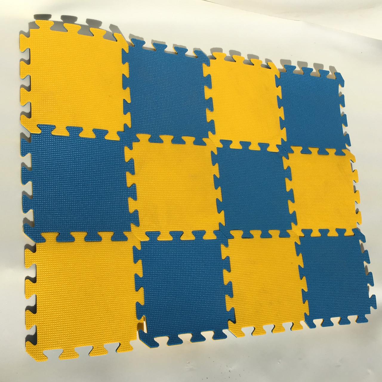 Lanor Детский мягкий пол-пазл 300*300*8мм желто-синий