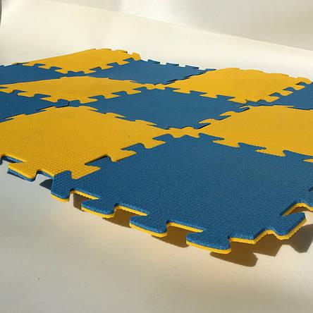 Lanor Детский мягкий пол-пазл 300*300*8мм желто-синий, фото 2