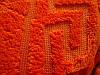 Покрывало микрофибра 200*220 Версаче Versace Турция оранжевое