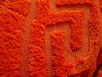 Покрывало микрофибра 200*220 Версаче Versace Турция оранжевое, фото 1
