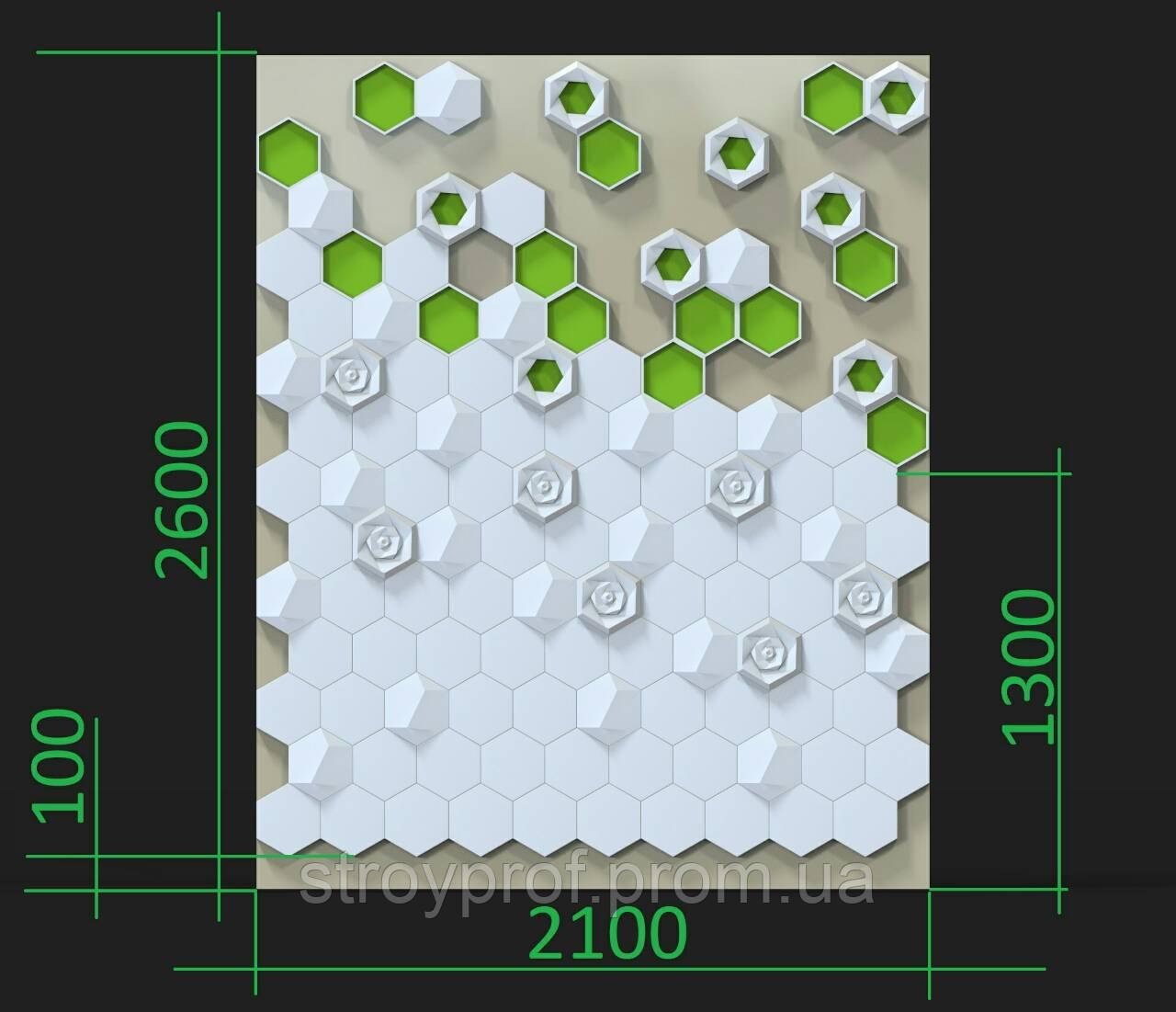 3D панели с мхом
