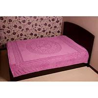 Покрывало микрофибра 200*220 Версаче Versace Турция розовое, фото 1