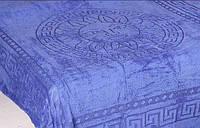 Покрывало микрофибра 200*220 Версаче Versace Турция синее, фото 1