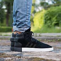 Кроссовки Adidas Tubular, цвет черный на бело-черной подошве