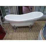 Акриловая ванна Atlantis C-3014,(ножки - серебро) без перелива, 1500х700х700 мм , фото 2