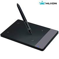 Планшет графический для рисования Huion 420, рабочая поверхность 110*60мм. Цвет: черный