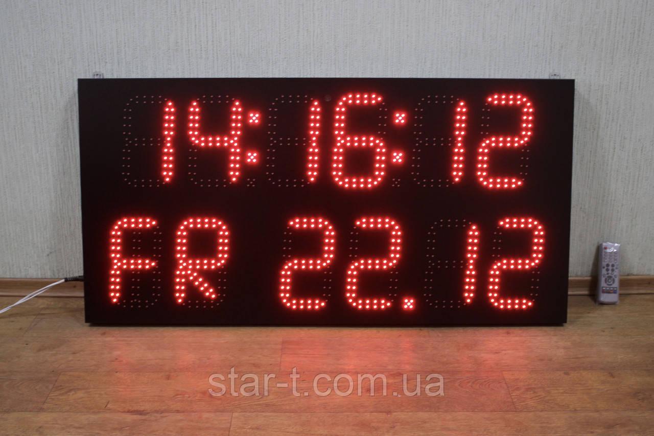 Светодиодный календарь-часы-термометр с отображением дней недели.
