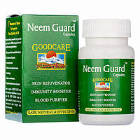 Neem Guard (60cap) Ним Гуард кожные болезни (крапивница, экзема, стригущий лишай, прыщи, угри, инфекции)