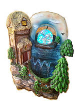 Фонтан декоративный комнатный Райский пейзаж с домом у моря 3443(43) Размер 28=18=14