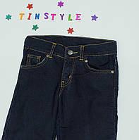 Синие утепленные  брюки на флисе на девочку 122 см