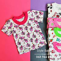 Детские футболки с рисунком  для девочки размер 24-40