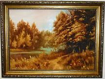 Пейзаж Осенний лес П-403 Гранд Презент 30*40
