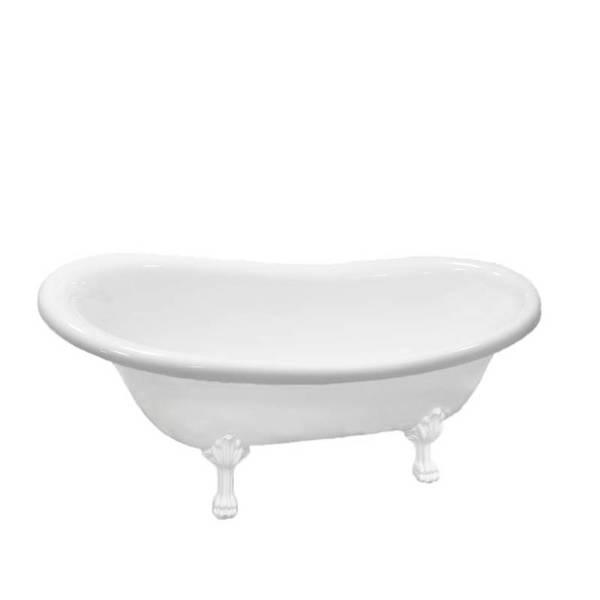 Акриловая ванна Atlantis C-3014,(ножки - белые) без перелива, 1500х700х700 мм