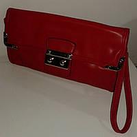Клатч женский красного цвета, фото 1