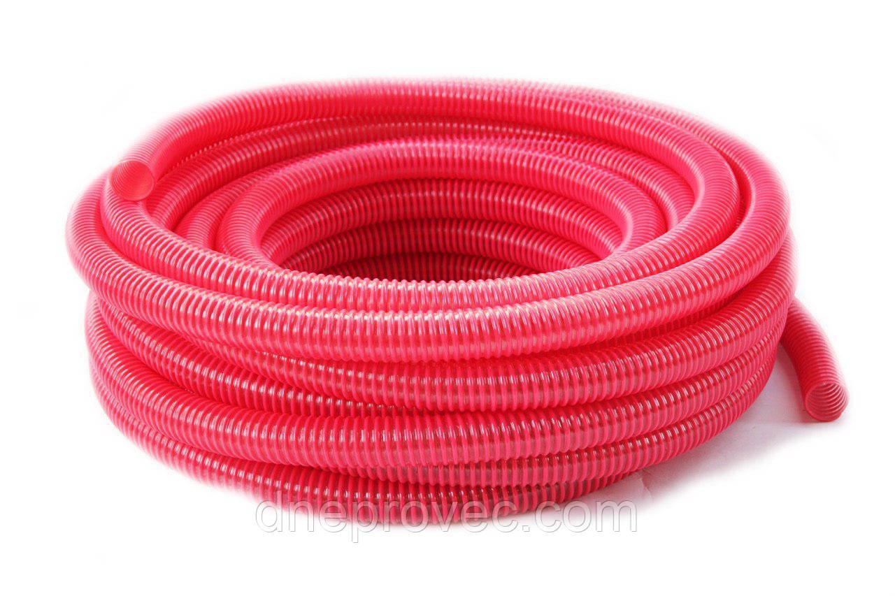 Гофра напірно-всмоктувальна червона Ø75мм - 25м TM EvciPlastik