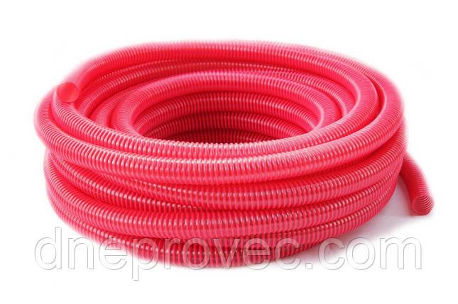 Гофра напірно-всмоктувальна червона Ø75мм - 25м TM EvciPlastik, фото 2