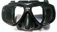 Маска для ныряния Cressi Sub Perla; чёрный силикон; чёрная рамка, фото 1